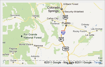 Similiar Southern Colorado Map With Cities Keywords