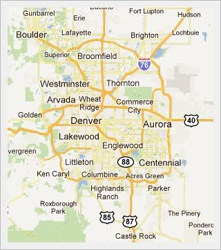 metro Denver map